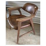 sexy mid-century chair- #52 wood needs refinished,