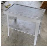 gray painted antique side table  #52