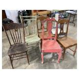 with a little love, these 6 antique chairs would
