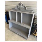 Super cute shabby chic gray shelf