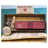CH&D 48341 Old Time Box Car Kit Red Ball HO