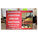 Huge LAMPS LIGHTING Clearance ONLINE AUCTION