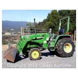 2001 John Deere 790 Compact 4x4 Front Loader Tractor at www.WestAuction.com