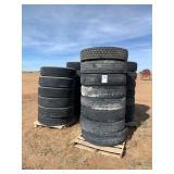 Pallet of truck tires