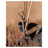 SEED FORK AND POST HOLE DIGGER