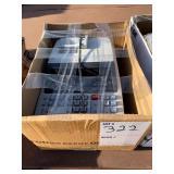 BOX OF CALCULATORS AND MISC.