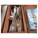 Wm. A. Rogers Silverware Set & Others