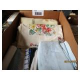 Needlepoint Doilies, Tablecloth, Towels, Etc.