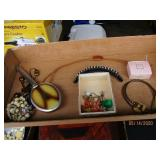 Jewelry & Old Hairbrush, Marbles