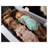 3 Dolls - Ceramic Heads & Hair