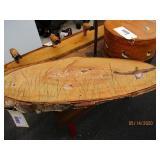 "42"" Birch Slab with Hand Painted Ducks & Cattails"
