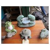 Turtle & Rabbit Sprinklers, Frogs Lawn Decor