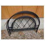"""3 Metal Garden Fence Sections, 24"""""""
