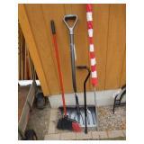 Cane, Snow Shovel, US Flag & Pole, Broom