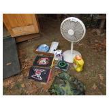 Floor Fan, Poncho, Preen, Home Defense, Flags