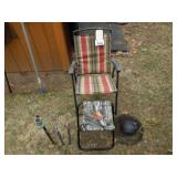 2 Folding Chairs and Stool & More