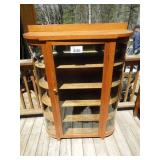 """Antique Glass Curio Cabinet 51"""" Tall x 40"""" Wide"""