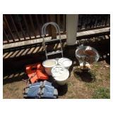"""Air Purifier, 16"""" Fan, Bait Buckets, Boat Ladder"""
