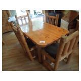 Cedar Log Table Set