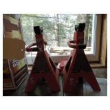 Big Red Set 2-Ton Jackstands & Wheel Chocks