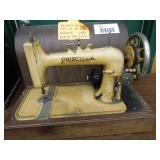 Priscilla Antique Sewing Machine with Wood Case