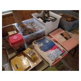 Folding Table w/Books, Recipes, Clothes, Sweaters