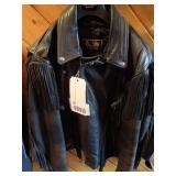USA Made Leather Fringe Biker Jacket