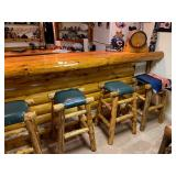 Amish Log Stools Sept 19 St.Louis Auctions Woodruff WI