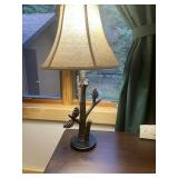 """Resin cast pinecone lamp 27"""" tall"""
