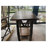 Hickory end table