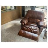 Leather swivel rocker recliner