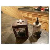Northwoods tissue holder & soap dispenser