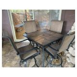 5 piece tall outdoor table
