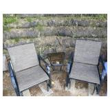 Corner style glider chairs with table (1-unit)