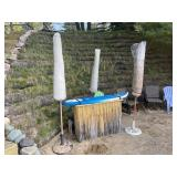 Unique Tiki bar with surfboard top