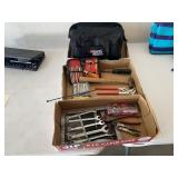 Tool bag, hammer, wrenches, screwdriver sets, etc.