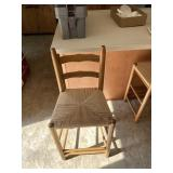 Bar stools with wicker seats