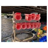 32 Calf Buckets with Bucket Racks