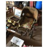 Early Wicker Baby Carriage