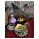 Selection of Porcelain Bowls, Fluid Lamp, Etc.