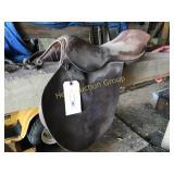 Brown Leather English Riding Saddle