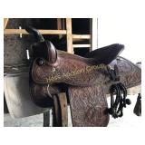 Brahma Brand By Tex Can Leather Co Western Saddle