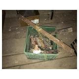 Crate of Barn Hardware, Assort. Strap Hinges