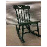 Green-Painted Rocking Chair