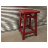 Modern Red-Painted Bar Stool