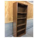 Particle Board 5-Shelf Bookshelf