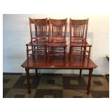 7pc Wooden Dinette Set with Rectangular Table