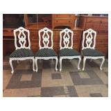 Set of 4 Upholstered Dining Room Chairs