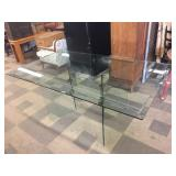 Glass Table with Glass Base