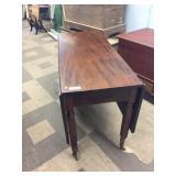19th Century Walnut Drop Leaf Table